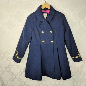 Cat & Jack Girls Double Breast Fit Flare Pea Coat